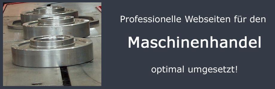 Webseiten für den Maschinenhandel