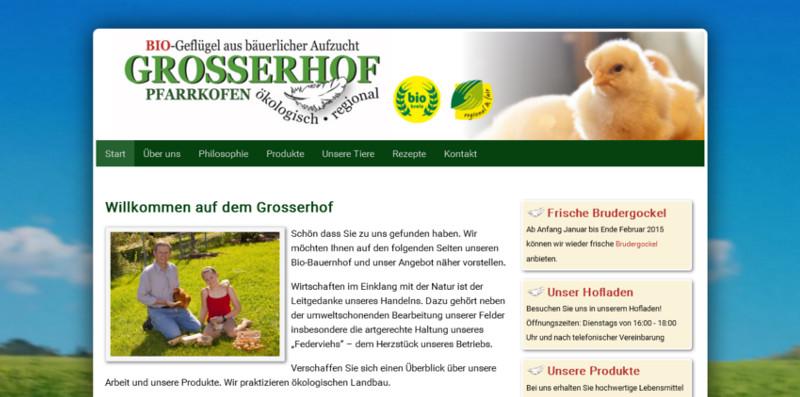 Webseite Grosserhof.de
